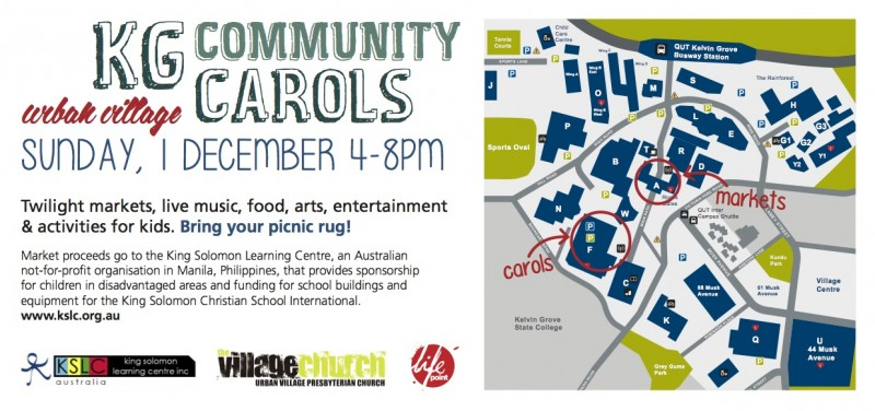 Qut Kelvin Grove Map Kelvin Grove Community Christmast Carols – Village Church – Kelvin
